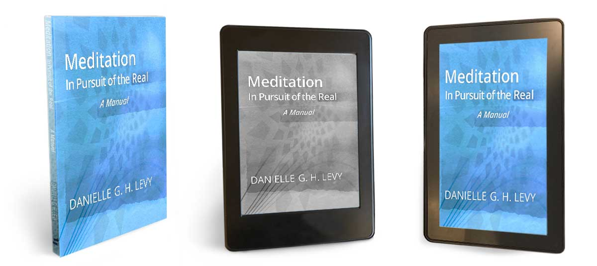 e-reader, tablet and soft-cover editions of Meditation In Pursuit of the Real